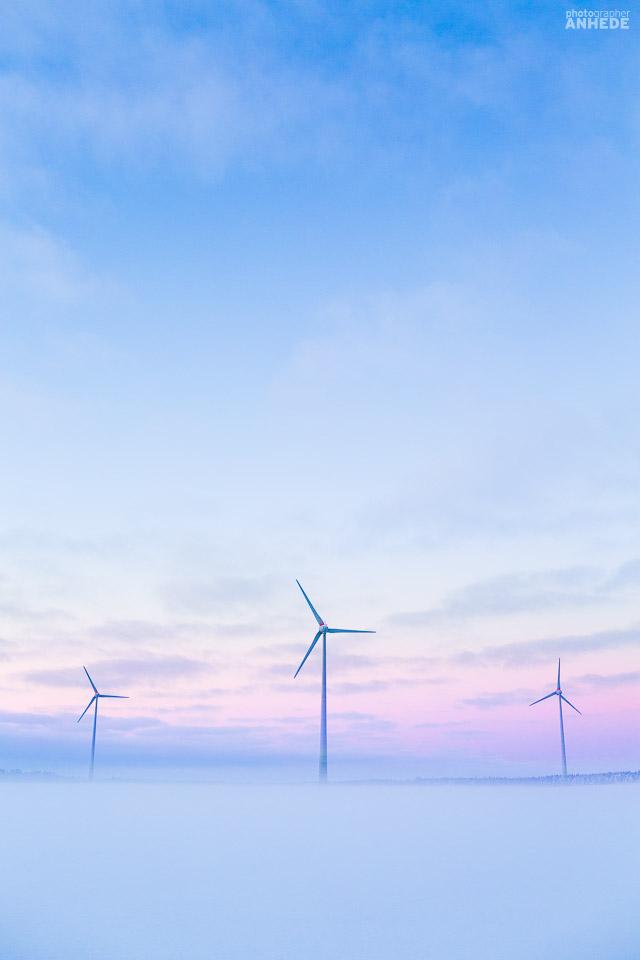 vindkraftverk, vinterlandskap, sverige, windmills, winter, sweden
