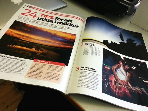 Tidningen FOTO med artikel från fotograf Jesper Anhede