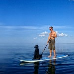 SUP (stand up paddle), Hjo, Sweden - Surf photographer Jesper Anhede, http://www.anhede.se