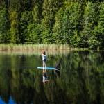 SUP (stand up paddle), Hjo, Sweden - Surf photographer Jesper Anhede, http://www.anhede.se