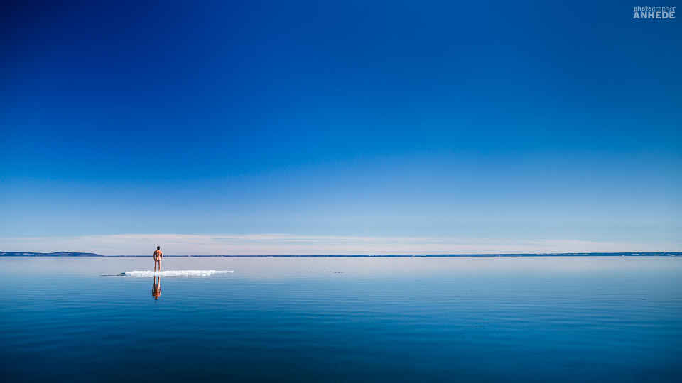 stand up paddleboard, sup, vättern, sweden, winter, hjo