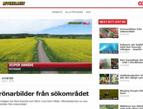 Aerial video for Swedish news – Aftonbladet live webcast