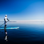 stand up paddleboard, sup, vättern, sweden, winter, hjo