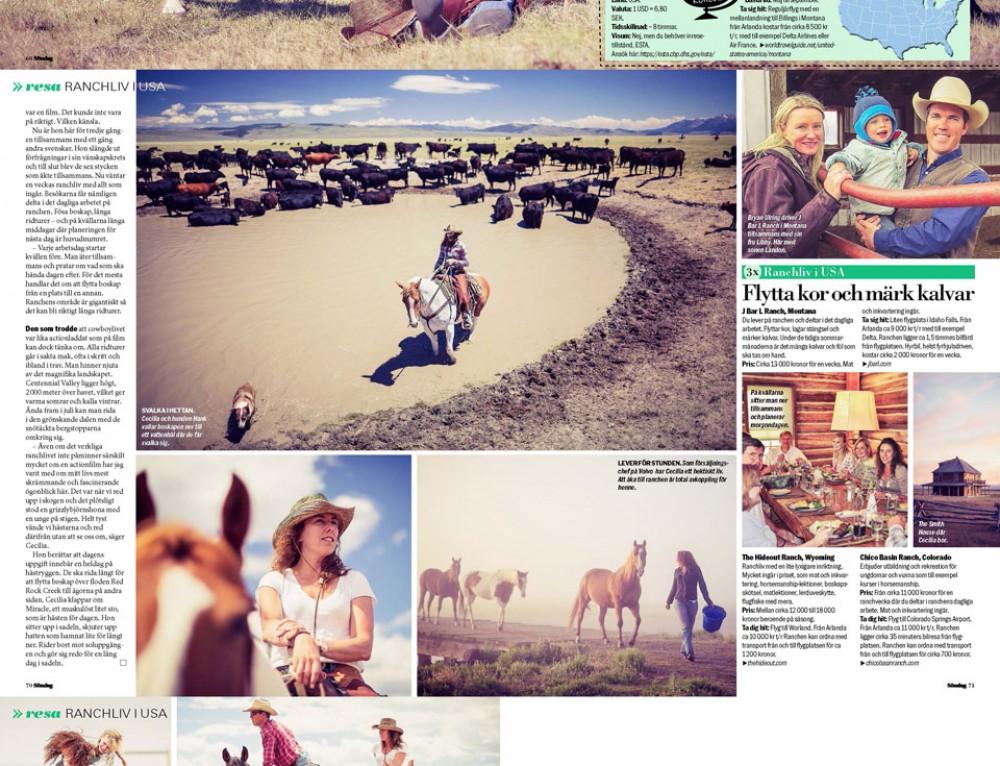 Resereportage – Ranchliv i USA