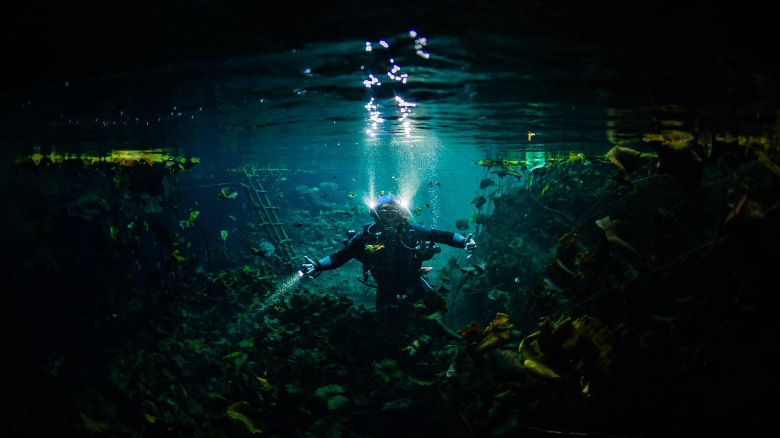 Cave diving Tulum, Mexico