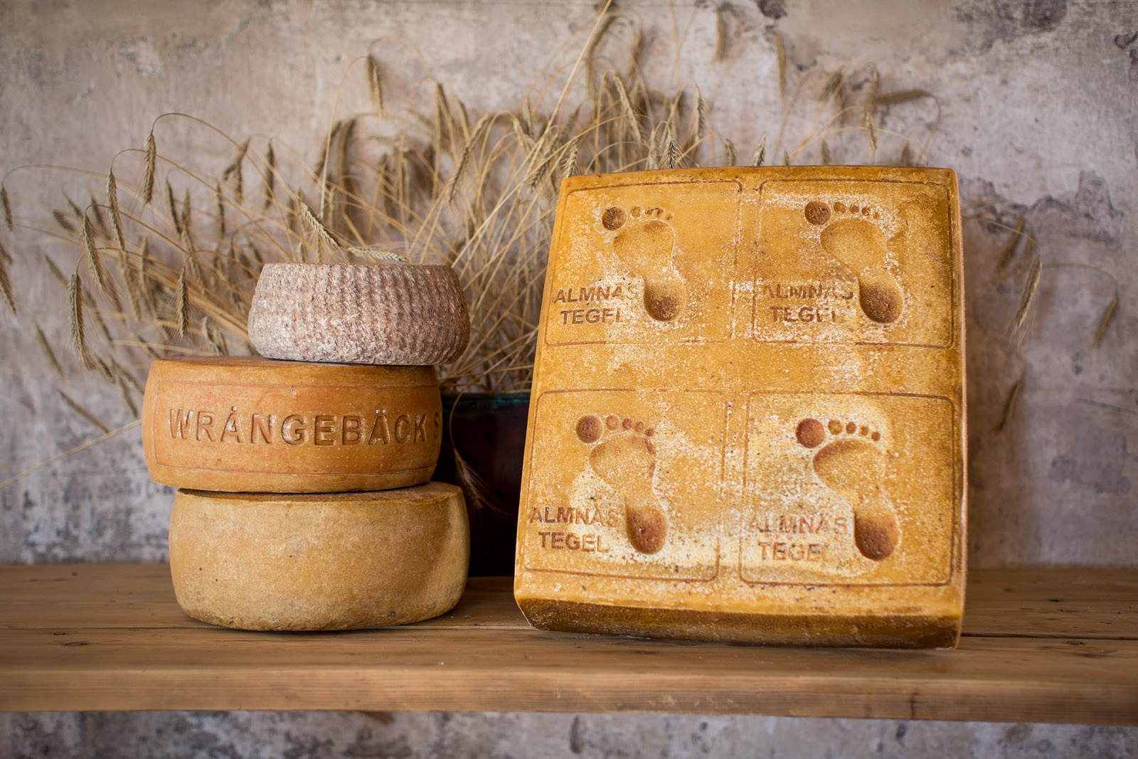 Product photography, Fine heritage cheese, Almnäs Bruk, Sweden