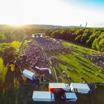 Aerial photo / flygfoto - Konsert med Gyllene Tider, Karstorp, Skövde