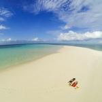 Aerial photo & overview - Travel photographer at the sandbanks - Pemba Island, Zanzibar, Tanzania, Africa