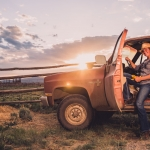 girl-pickup-ranch-sunset-montana