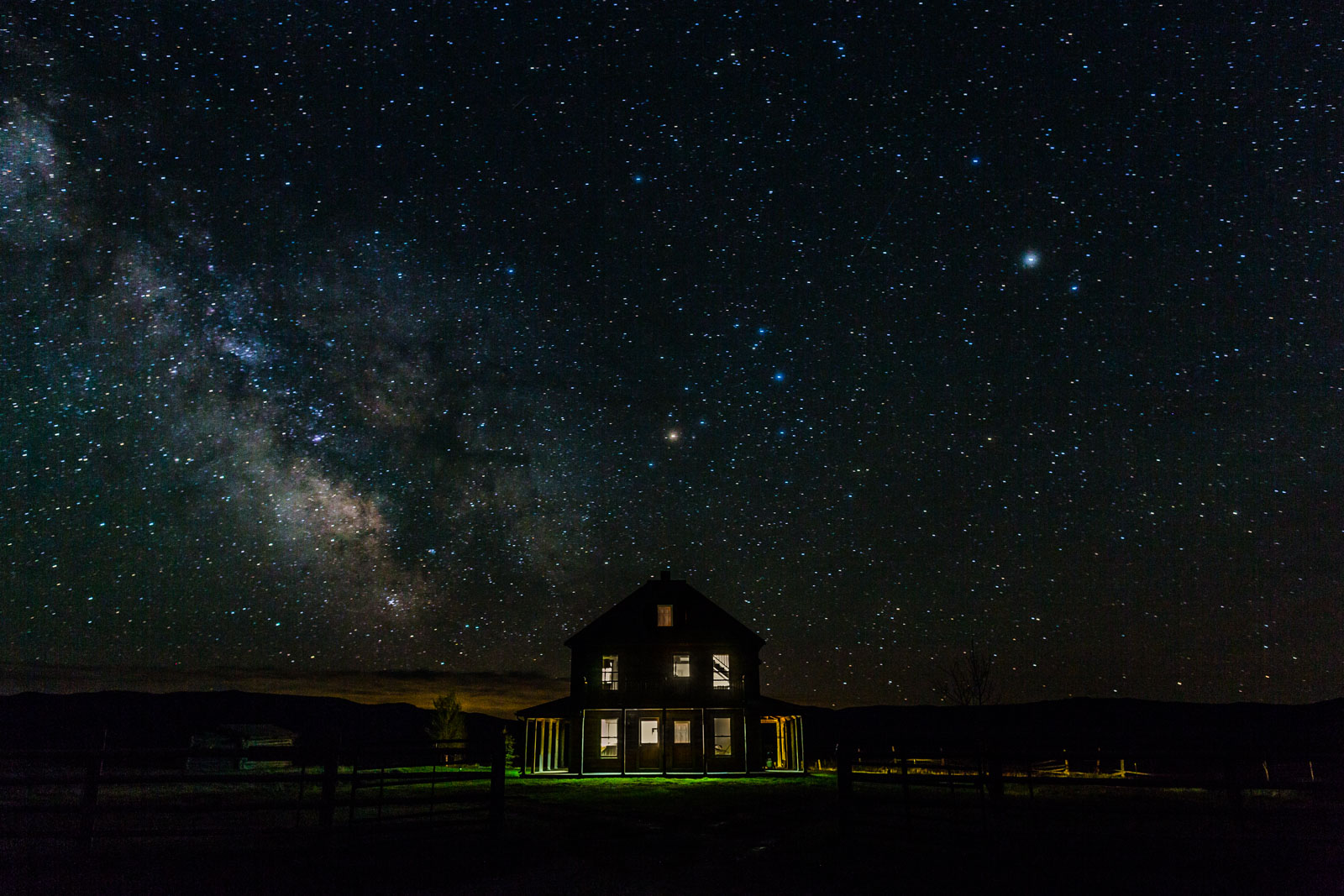 Night photography, J Bar L Ranch, Montana, USA