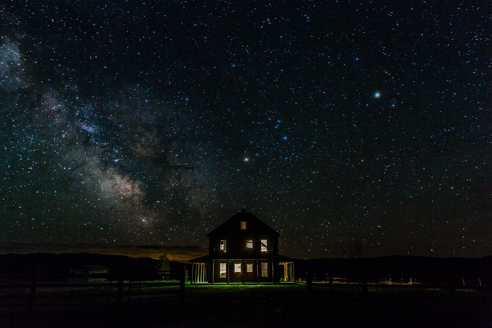 Night photography, J Bar L Ranch, Montana, USA