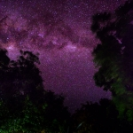 Night photos of the Manta Resort where you can see the Milky Way very clearly