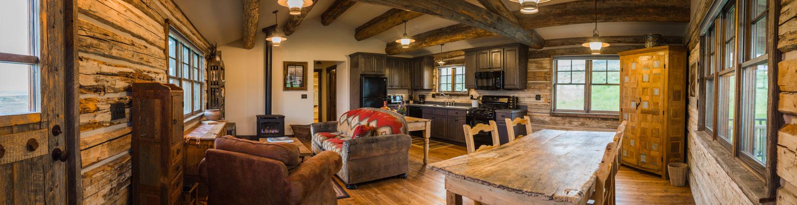 Rental vacation homes, J Bar L Ranch, Montana, USA