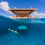 Underwater photographer - A photo that is half over and half under the surface is the best way to show what the Underwater room really looks like