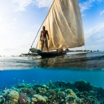 Underwater photography - Ngalawa sailing over the reef