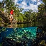 slackline, slacklining, balance, mexico, akumal, tulum, underwater, uw, uwphoto, underwaterphoto, underwaterphotographer, adventure, adventurephotographer, jungle, cenote, snorkeling, anhede