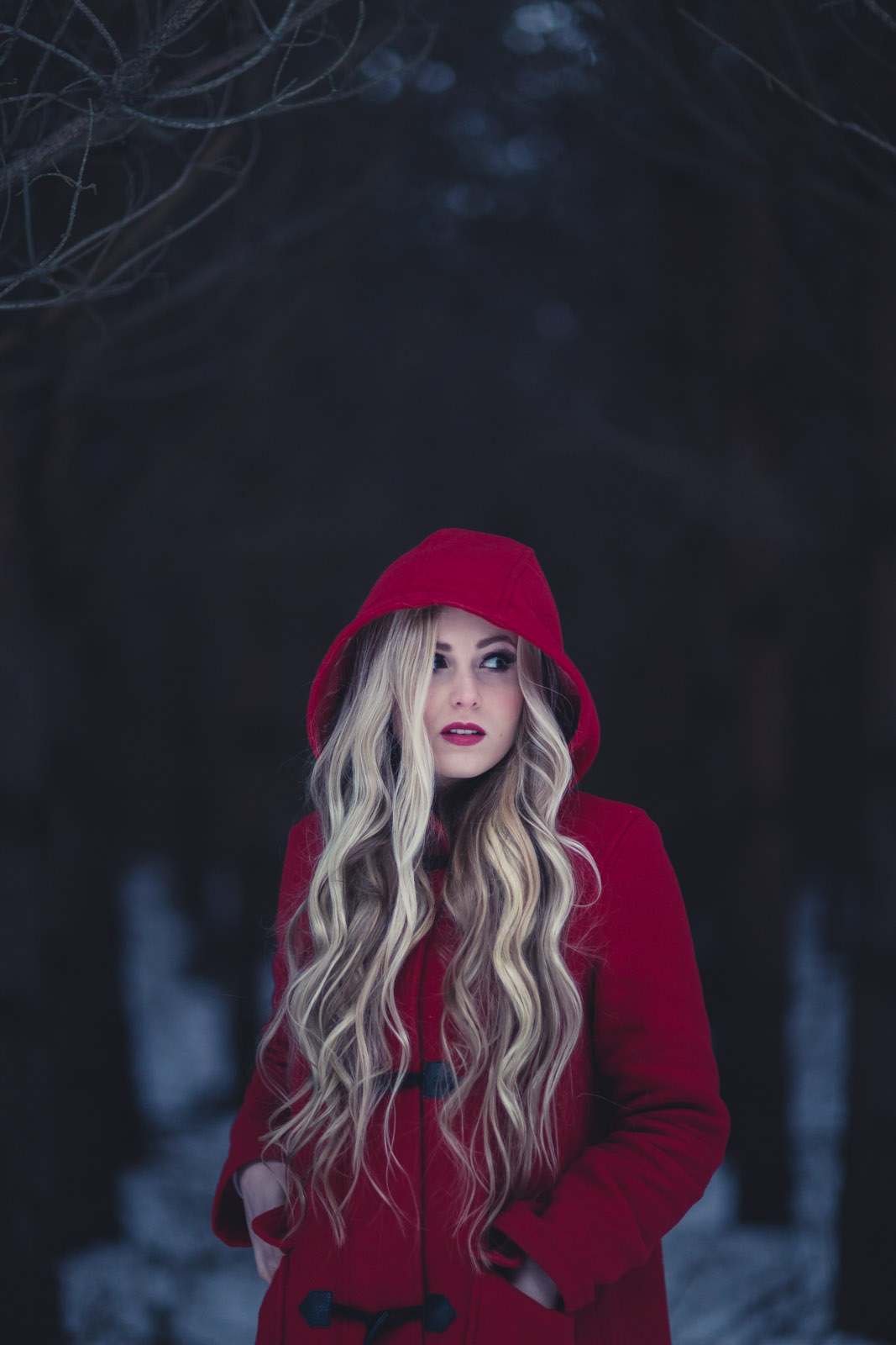 fine art photography, fine art, conceptual photography, konceptuellt foto, Red Riding Hood - Cecilia Kallin from Timoteij - Artist Portrait photographer - Porträttfotograf