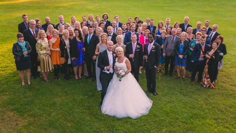 Bröllopsfoto, Mullsjö Hotell - Sandra & Erik