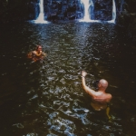 Behind the scenes - underwater, yoga, uw, waterfall, seychelles, mahe, wanderlust, travel, photographer, aquatech, anhede