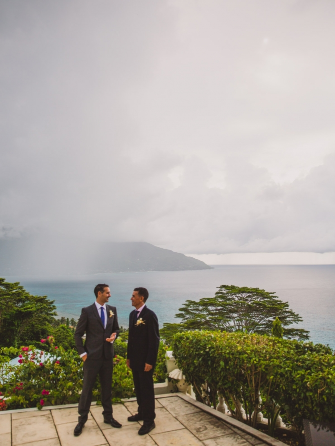 Groom and Best Man - Wedding photographer in the Seychelles