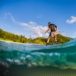 Surf photographer - Stand up paddle, Seychelles