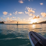 Sunset - Stand up paddle surfing and stand up paddle boarding