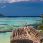 Yoga photographer - Yoga with a view. La Digue island, Seychelles