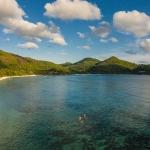 Flygfotograf - Ståpaddling, Kempinski resort, Seychellerna