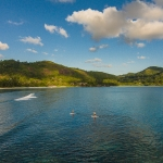 Aerial photographer - Stand up paddle, iSurf, Kempinski resort, Seychelles