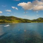 Aerial photographer - Stand up paddle, iSurf, Kempinski resort, Seychelles