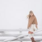 Cape Sweden, winter, snow, headpiece, jewelry, fashion, fashion photographer