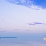 Lighthouse in lake Vättern in the city Hjo, Sweden - Fyren i sjön Vättern, Hjo, Skaraborg, Sverige