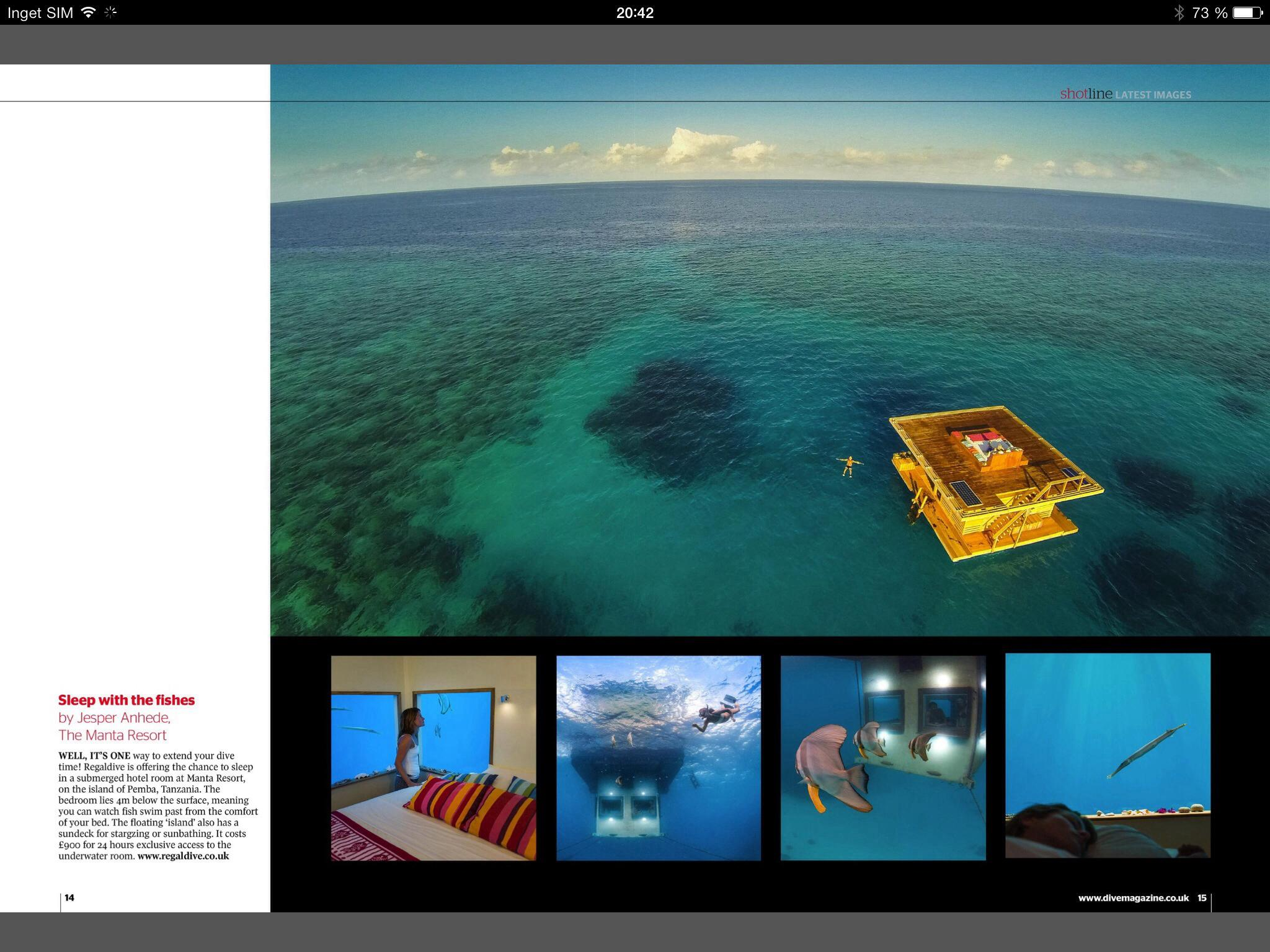 Underwater photographer for Dive magazine - Undervattensfotograf för tidningen Dive