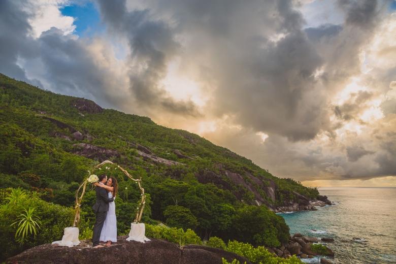 Wedding photo Seychelles - Bröllopsfoto Seychellerna