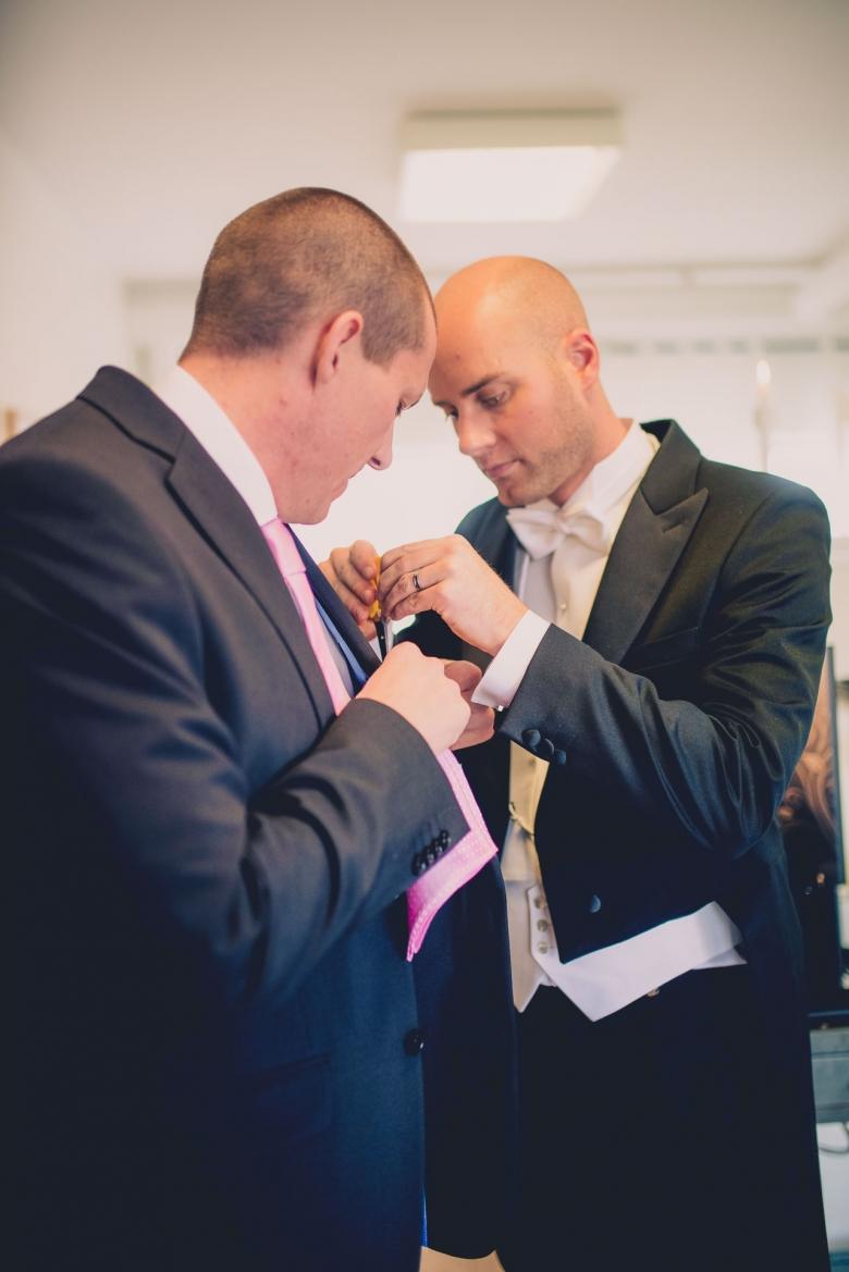 Sista fixet innan bröllopet - Last preparations before the wedding