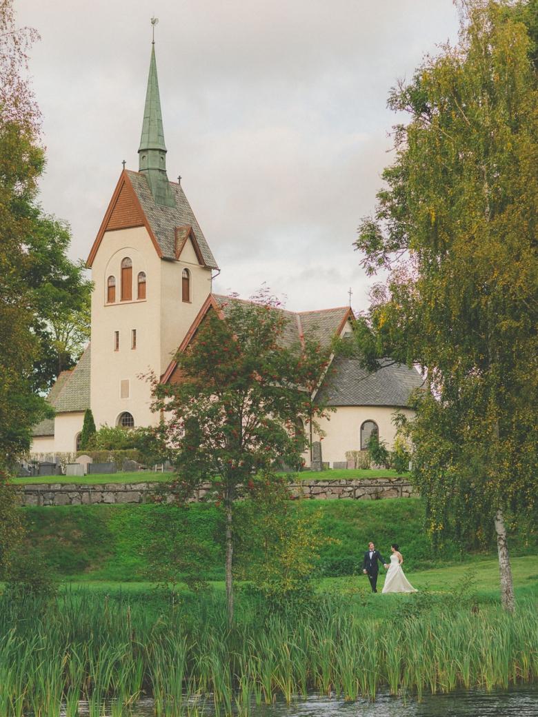 Bröllopsfotograf i Jönköping - Anna & Jonathan i Järsnås kyrka