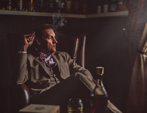 Portrait photo in the whiskey salon