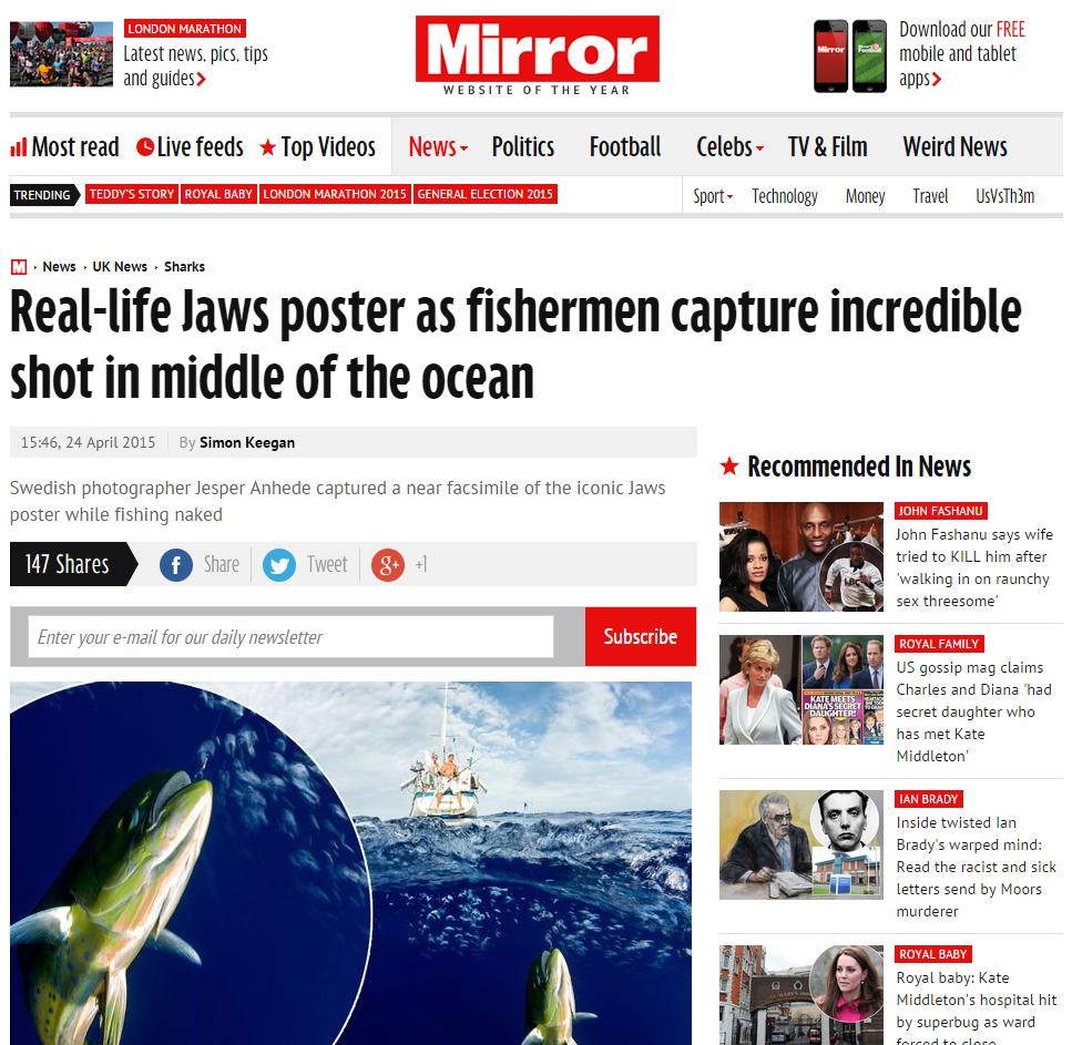 travel-photographer-jsper-anhede- Real-life Jaws poster as fishermen capture incredible shot in middle of the ocean - Mirror Online