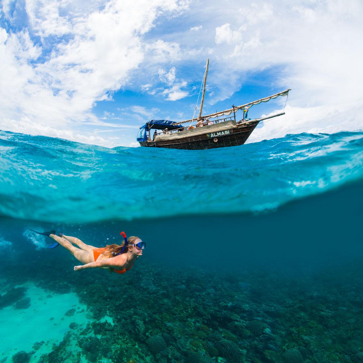 wanderlust underwater boat snorkeling kenya