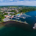 aerial photo, hjo, sweden, drone photographer