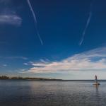 Stranded on a rock in lake vattern - Hjo, Sweden
