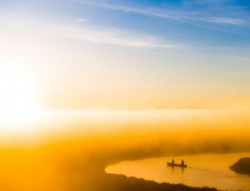 Canoeing in the morning Mist – Award winning adventure photographer – Winner of PX3, Prix de la Photographie Paris