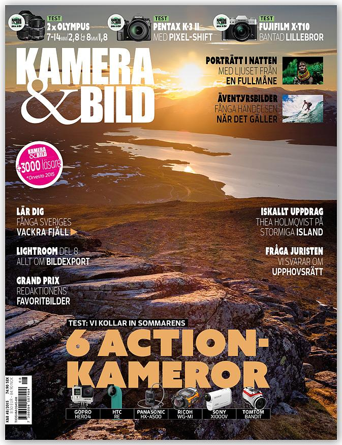 Swedish photo magazine - Kamera & Bild, no 8, 2015 - Article - Portrait of adventure and travel photographer Jesper Anhede