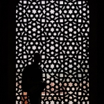 Pattern window - Humayun's tomb, New-Delhi, India, Asia