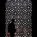 Pattern window - Humayun's tomb, New-Delhi, India, Asia