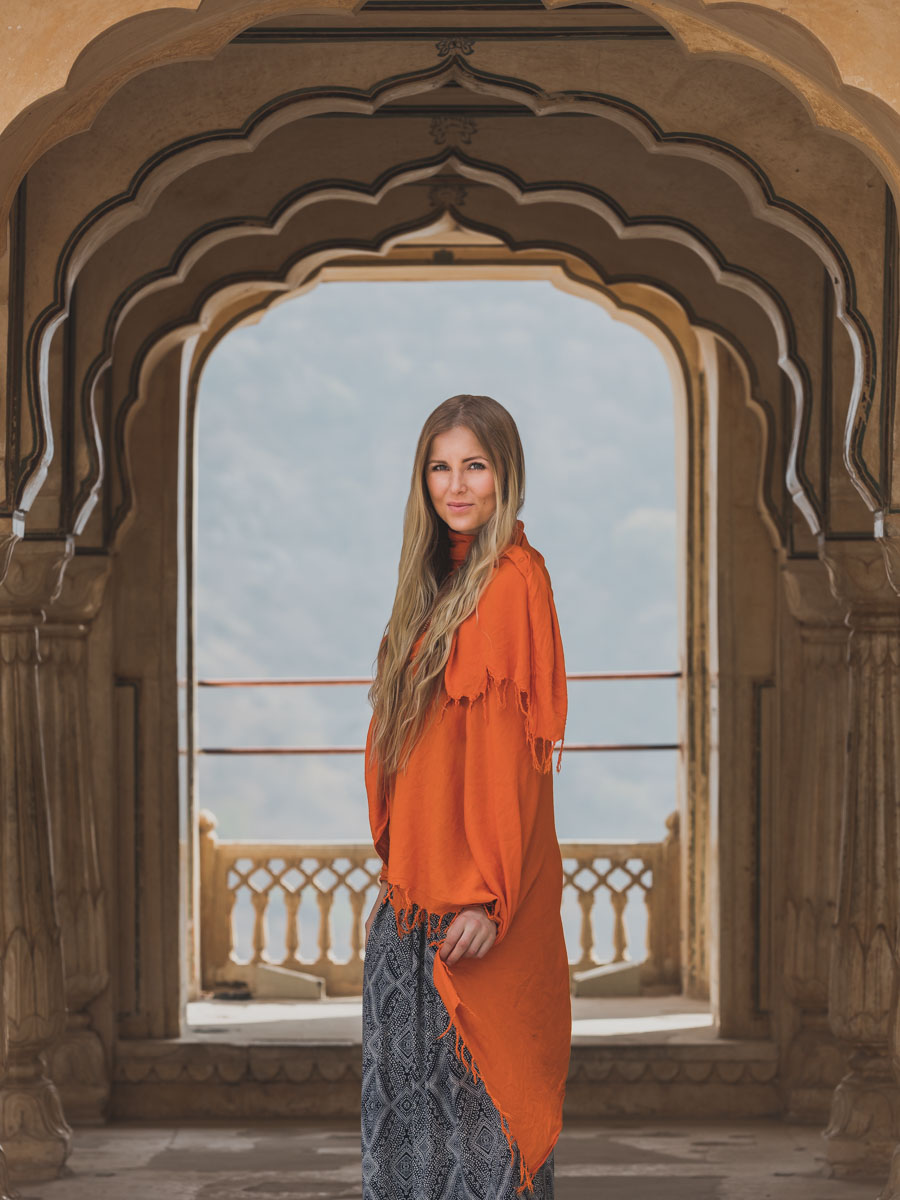 My photo muse - Singer-songwriter Cecilia Kallin, model, Jaipur, Amber fort, India