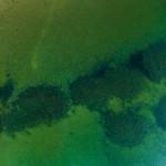 Aerial photo - Archelogical documentation of Hertig Johans Dock in Hjo, Vättern