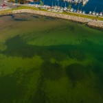 Aerial photo & video - Archeological documentation under water in Vättern outside the city Hjo in Sweden