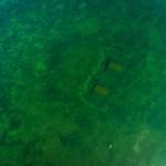 flygfoto dronarfoto video arkeologisk dokumentation under vatten hjo vattern brygga krabben