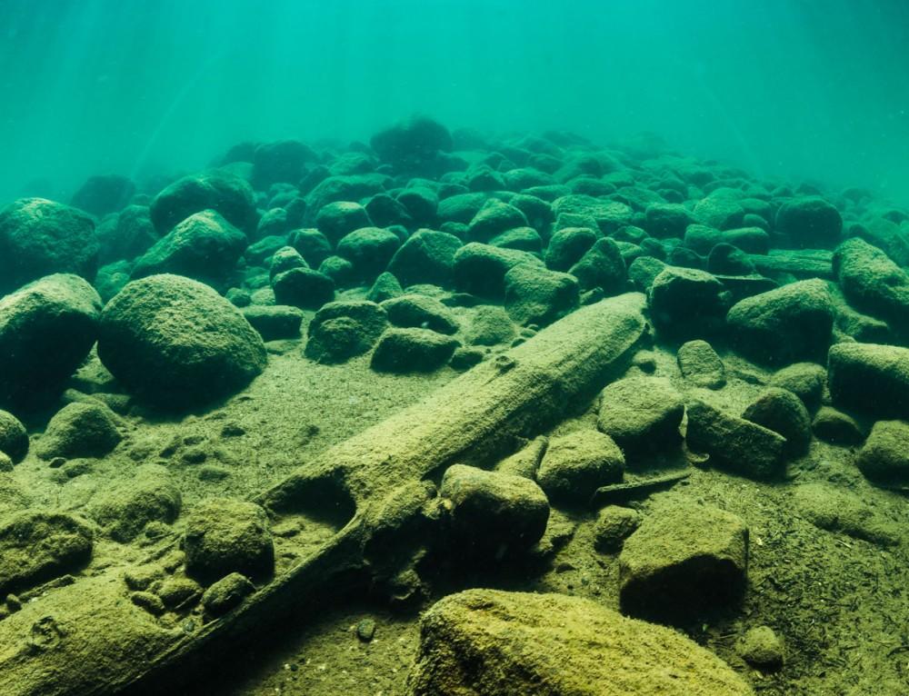 Undervattensfoto & video – Arkeologisk dokumentation av Hertig Johans Brygga, Hjo, Sverige